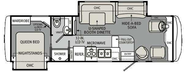 Floorplan - 2011 Holiday Rambler Vacationer 32WBD