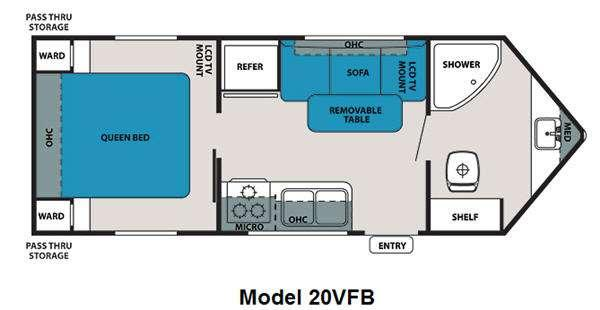 Floorplan - 2011 Forest River RV V-Cross Super Lite 20VFB