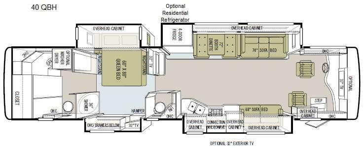 Floorplan - 2011 Tiffin Motorhomes Phaeton 40 QBH
