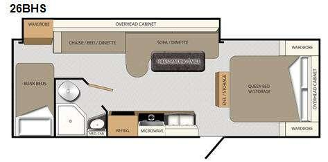 Floorplan - 2011 Coachmen RV Apex 26 BHS