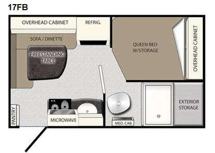 Floorplan - 2011 Coachmen RV Apex 17 FB