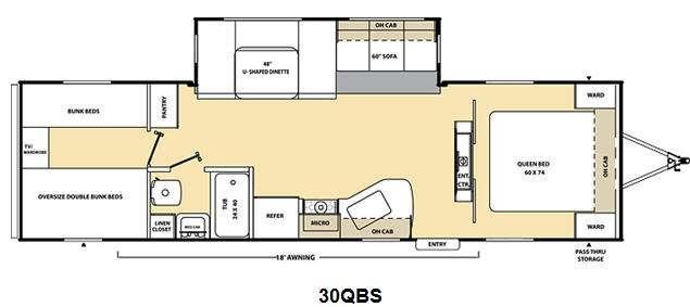 Floorplan - 2011 Coachmen RV Catalina 30QBS