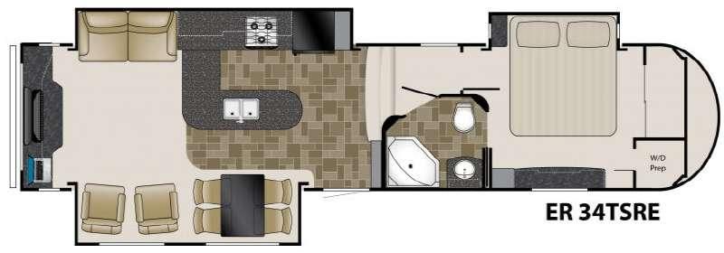 Floorplan - 2011 Heartland ElkRidge 34TSRE