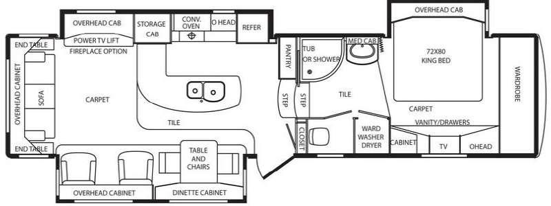 Floorplan - 2011 DRV Luxury Suites Mobile Suites 36 TK3