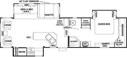 Floorplan - 2003 Forest River RV Cedar Creek 34 CKTS