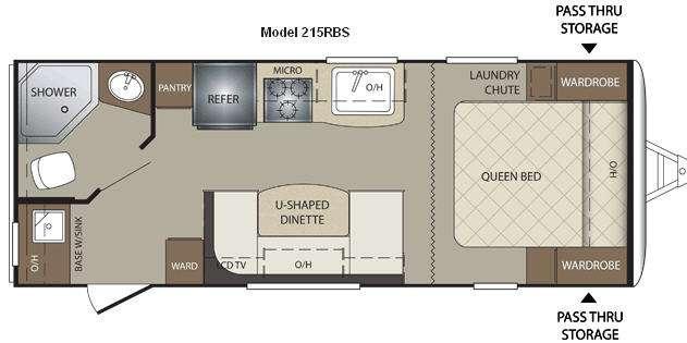 Floorplan - 2011 Keystone RV Bullet 215RBS