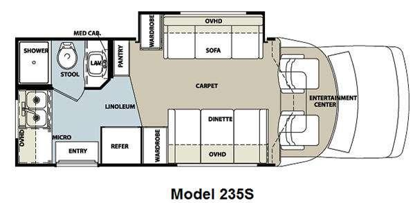 Floorplan - 2011 Forest River RV Lexington 235S