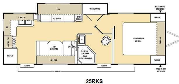 Floorplan - 2011 Coachmen RV Catalina 25RKS