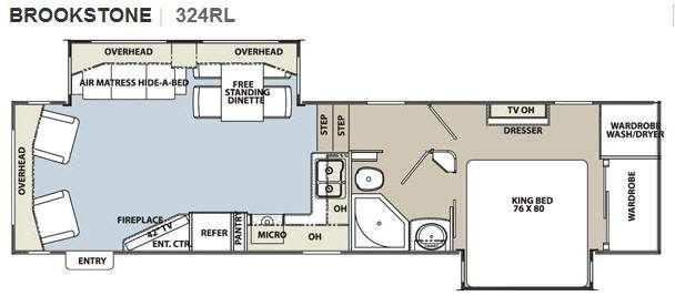 Floorplan - 2011 Coachmen RV Brookstone 324RL