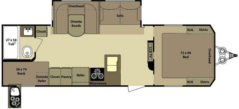 Floorplan - 2011 Open Range RV Mesa Ridge 274B