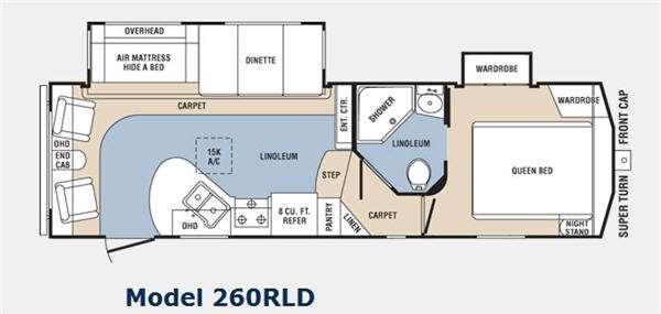 Floorplan - 2011 Prime Time Manufacturing Crusader 260RLD