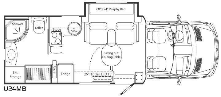 Floorplan - 2011 Leisure Travel Unity U24MB