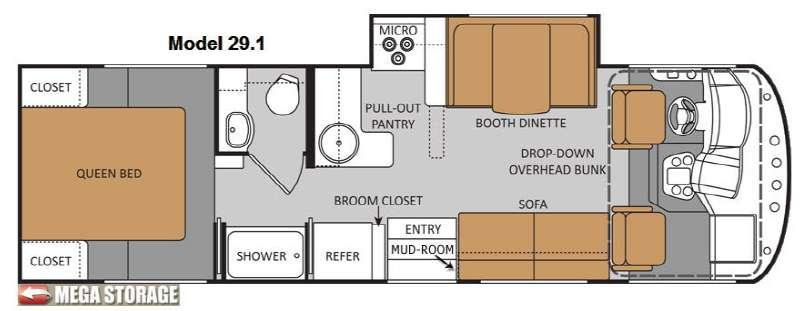 Floorplan - 2012 Thor Motor Coach ACE 29 1