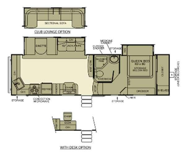Floorplan - 2012 EverGreen RV Ever-Lite 31RKS-5