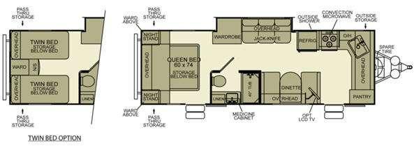Floorplan - 2012 EverGreen RV Ever-Lite 29FK