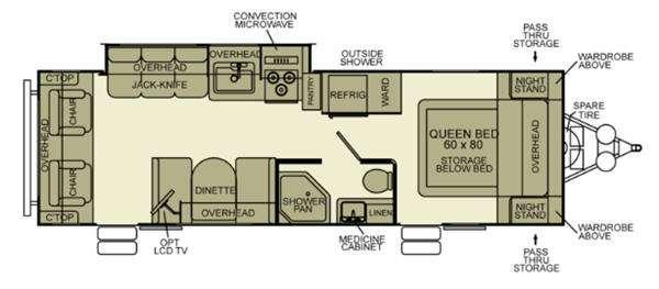 Floorplan - 2012 EverGreen RV Ever-Lite 31RLS