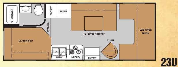 Floorplan - 2011 Thor Motor Coach Chateau 23U