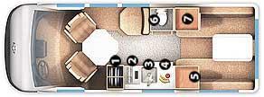 Floorplan - 2006 Roadtrek - 190 Popular 190-Popular