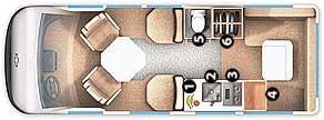 Floorplan - 2006 Roadtrek - 190 Versatile 190-Versatile