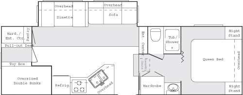 Floorplan - 2004 Keystone RV Cougar 281 EFS