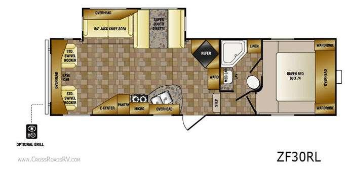 Floorplan - 2011 CrossRoads RV Zinger ZF30RL