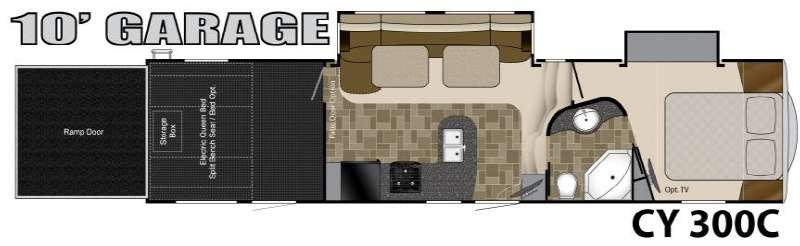 Floorplan - 2011 Heartland Cyclone 300C