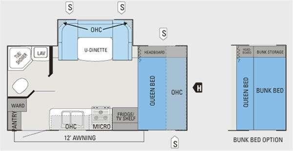 Floorplan - 2011 Jayco Jay Feather Sport 197