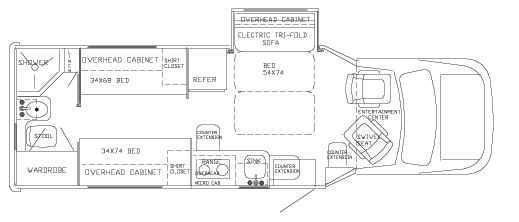 Floorplan - 2006 Phoenix USA Phoenix Cruiser 25 Cruiser-Front Slide