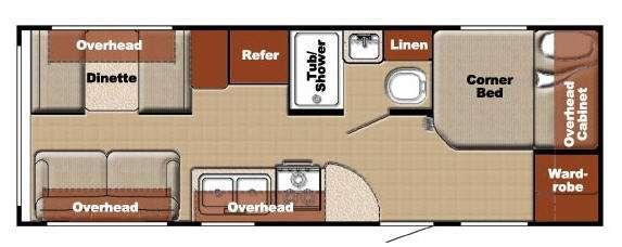 Floorplan - 2012 Gulf Stream RV Ameri-Lite 23BW