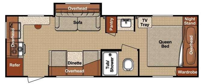 Floorplan - 2012 Gulf Stream RV Conquest Lite 24RK