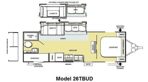 Floorplan - 2012 Forest River RV Salem 26TBUD