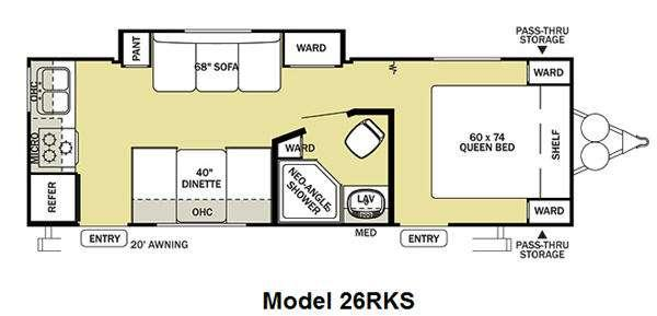 Floorplan - 2012 Forest River RV Salem Cruise Lite 26RKS