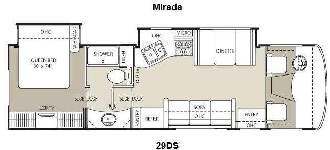 Floorplan - 2012 Coachmen RV Mirada 29DS