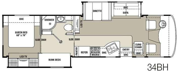 Floorplan - 2012 Coachmen RV Mirada 34BH