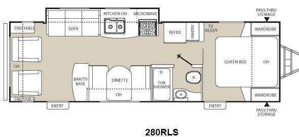 Floorplan - 2012 Coachmen RV Freedom Express 280RLS