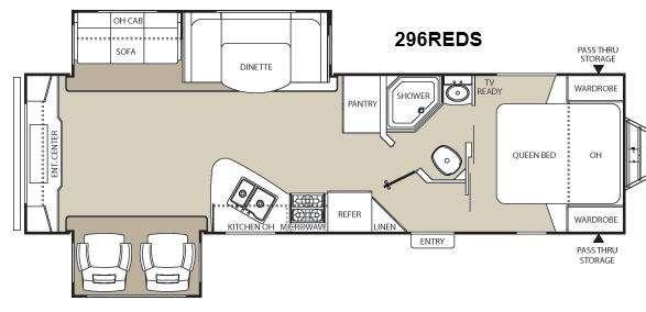 Floorplan - 2012 Coachmen RV Freedom Express 296REDS