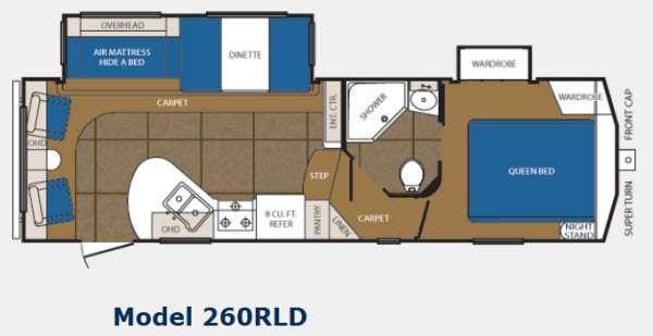 Floorplan - 2012 Prime Time Manufacturing Crusader 260RLD