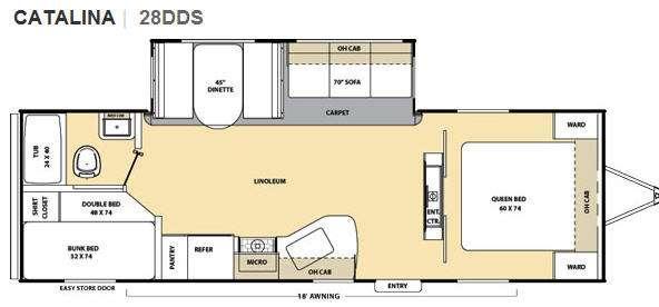 Floorplan - 2012 Coachmen RV Catalina 28DDS