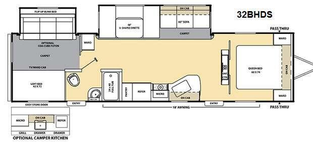 Floorplan - 2012 Coachmen RV Catalina 32BHDS