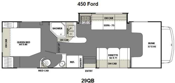 Floorplan - 2012 Coachmen RV Freelander 29QB Ford 450