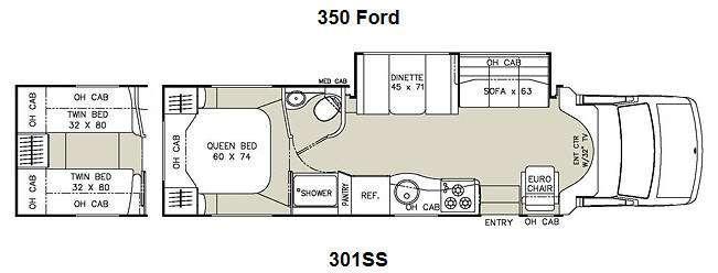 Floorplan - 2012 Coachmen RV Concord 301SS Ford