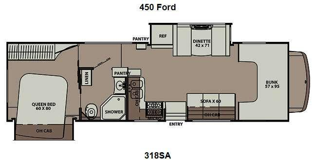 Floorplan - 2012 Coachmen RV Leprechaun 318SA Ford 450
