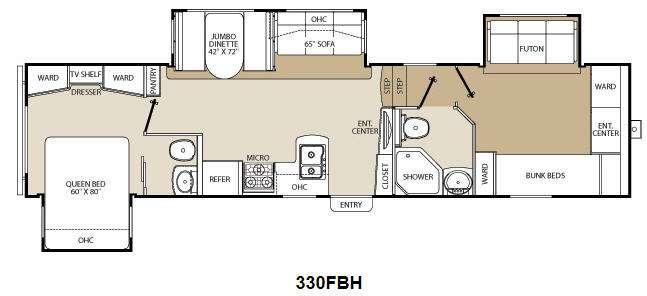 Floorplan - 2012 Coachmen RV Chaparral 330FBH