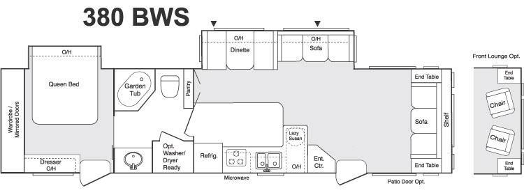 Floorplan - 2006 Keystone RV Sprinter 380BWS