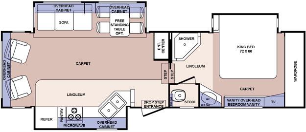 Floorplan - 2006 Forest River RV Cardinal 30TS