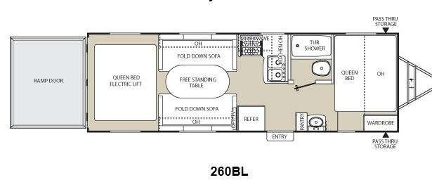 Floorplan - 2012 Coachmen RV Freedom Express LTZ 260BL