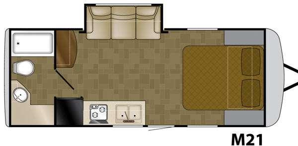 Floorplan - 2012 Heartland Edge M21