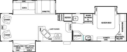 Cedar Creek 36RLTS Floorplan