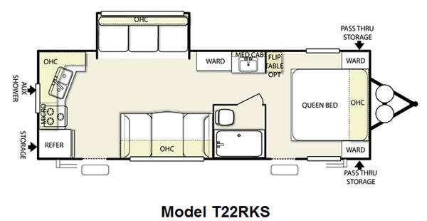 Floorplan - 2012 Forest River RV Wildwood 22RKS