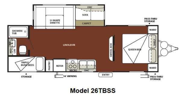 Floorplan - 2012 Forest River RV Wildwood 26TBSS